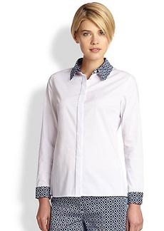 Saks Fifth Avenue Collection Poplin Contrast-Print Shirt