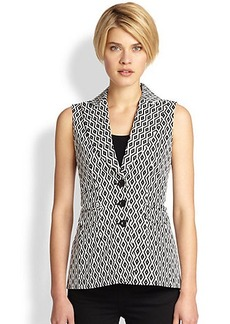 Saks Fifth Avenue Collection Printed Vest