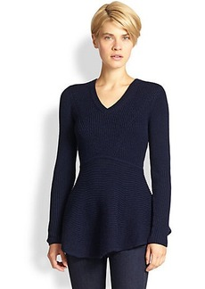 Saks Fifth Avenue Collection Ribbed Peplum Sweater