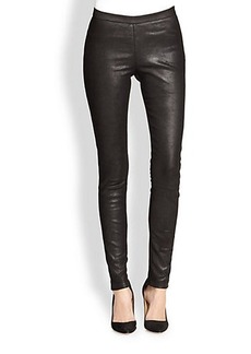 Saks Fifth Avenue Collection Second-Skin Leather Leggings
