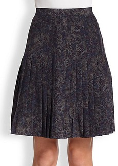 Saks Fifth Avenue Collection Silk Pleated Skirt