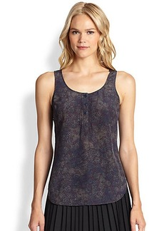Saks Fifth Avenue Collection Silk Printed Tank