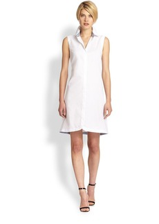 Saks Fifth Avenue Collection Sleeveless Poplin Shirtdress