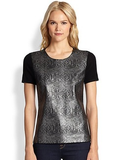 Saks Fifth Avenue Collection Snake-Print Top