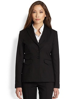 Saks Fifth Avenue Collection Stretch Cotton 3-Pocket Jacket