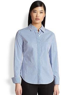 Saks Fifth Avenue Collection Striped Poplin Shirt