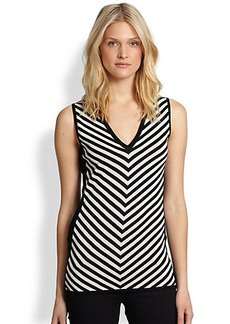 Saks Fifth Avenue Collection Striped Sleeveless Sweater