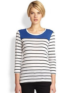 Saks Fifth Avenue Collection Striped Twisted Top