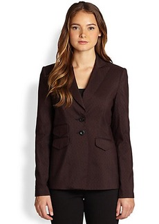 Saks Fifth Avenue Collection Tailored Jacquard Blazer