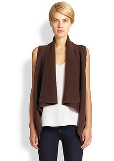 Saks Fifth Avenue Collection Wool/Cashmere Ribbed Vest