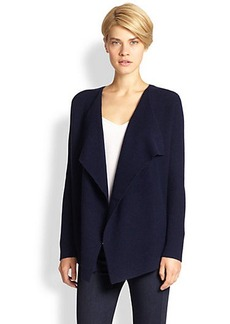 Saks Fifth Avenue Collection Wool/Cashmere Waterfall Cardigan