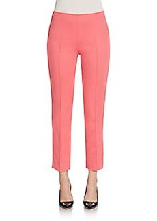 Saks Fifth Avenue Cropped Sateen Skinny Pants