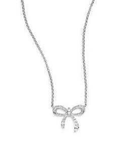 Saks Fifth Avenue Diamond & 14K White Gold Bow Necklace