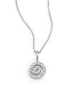 Saks Fifth Avenue Diamond & 14K White Gold Swirl Necklace