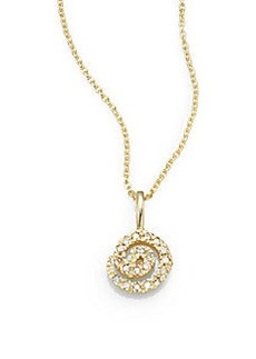 Saks Fifth Avenue Diamond & 14K Yellow Gold Swirl Necklace
