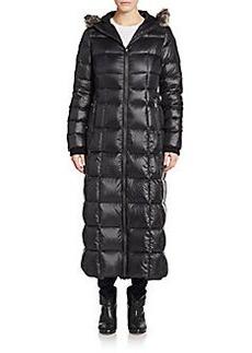 Saks Fifth Avenue Faux Fur-Trimmed Puffer Coat