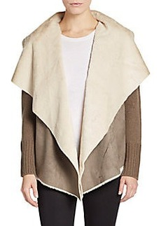 Saks Fifth Avenue Faux Shearling-Accented Jacket