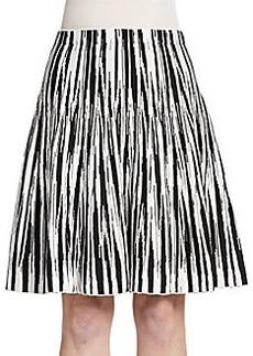 Saks Fifth Avenue Flared Chevron Knit Skirt