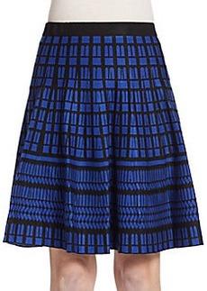 Saks Fifth Avenue Flared Geo-Pattern Knit Skirt