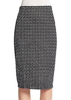 Saks Fifth Avenue Geo Midi Skirt