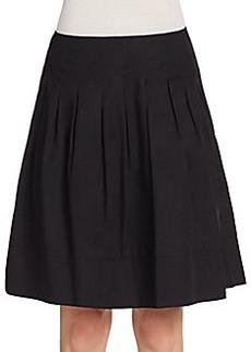 Saks Fifth Avenue Pleated A-Line Skirt