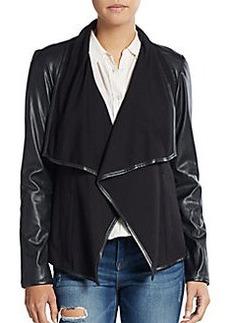 Saks Fifth Avenue Ponte & Faux Leather Jacket