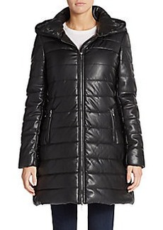 Saks Fifth Avenue Quilted Faux Leather Coat