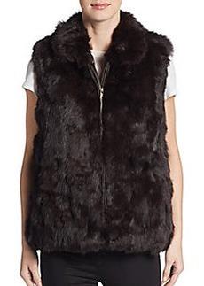 Saks Fifth Avenue Rabbit Fur Vest
