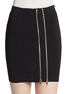 Saks Fifth Avenue RED Double Zip Jersey-Knit Skirt