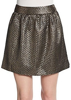 Saks Fifth Avenue RED Embossed Metallic Bubble Skirt