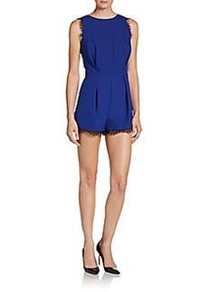 Saks Fifth Avenue RED Eyelash-Trim Short Jumpsuit