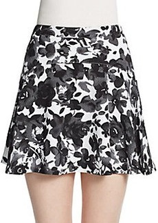 Saks Fifth Avenue RED Floral Print A-Line Mini Skirt