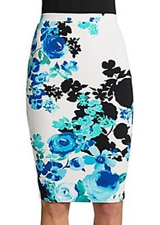 Saks Fifth Avenue RED Floral-Print Pencil Skirt