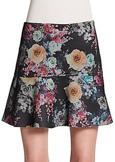 Saks Fifth Avenue RED Floral Print Textured Skirt
