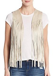 Saks Fifth Avenue RED Fringe Vest