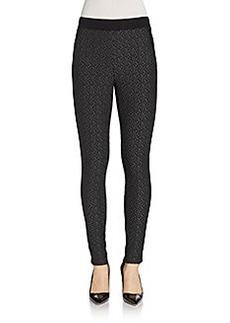 Saks Fifth Avenue RED Jacquard Skinny Pants