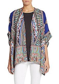 Saks Fifth Avenue RED Printed Kimono Jacket