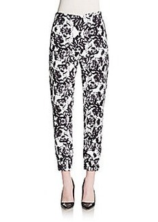 Saks Fifth Avenue RED Rose Print Jogger Pants