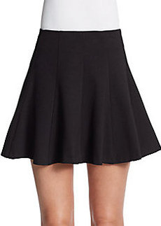 Saks Fifth Avenue RED Seamed Ponte A-Line Skirt