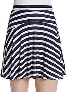 Saks Fifth Avenue RED Striped Slinky Jersey-Knit Skirt