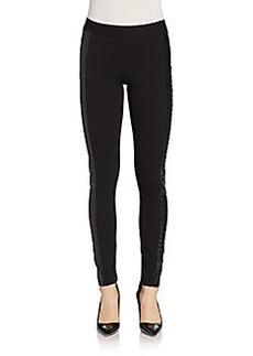 Saks Fifth Avenue RED Stud-Embossed Ponte Skinny Pants