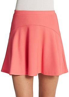 Saks Fifth Avenue RED Textured Flippy Skirt