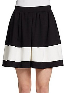 Saks Fifth Avenue RED Two-Tone Scuba Teacup Skirt