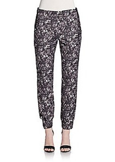Saks Fifth Avenue RED Winter Floral Cuffed Pants
