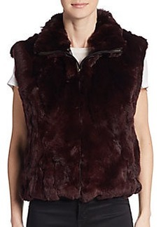 Saks Fifth Avenue Rex Rabbit Fur Vest