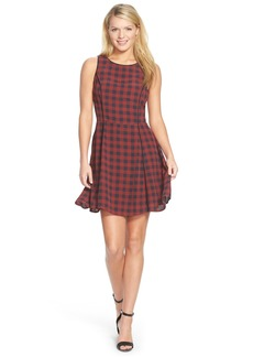 Sanctuary 'Charmer' Check Plaid Fit & Flare Dress