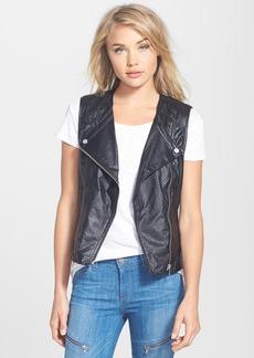 Sanctuary 'City' Faux Leather Moto Vest