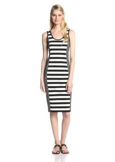 Sanctuary Clothing Women's Graphic Bodycon Striped Ponte Dress