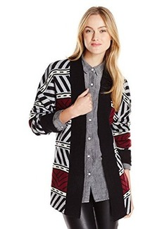 Sanctuary Clothing Women's Graphic Loom Cardigan Sweater