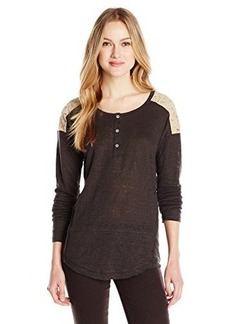 Sanctuary Clothing Women's New Craft Henley Top